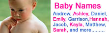 Try out our NEW searchable baby names database